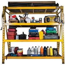 dewalt 6 ft yellow 4 shelf industrial storage rack