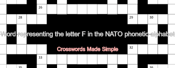 Add, edit, delete clues, and customize this puzzle. Word Representing The Letter F In The Nato Phonetic Alphabet Crossword Clue Crosswords Dictionary