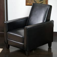 Darvis Black Bonded Leather Recliner Club Chair by Christopher Knight Home  - Free Shipping Today - Overstock.com - 15209712