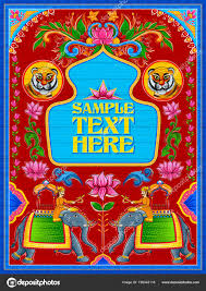 Sample Welcome Banner Colorful Welcome Banner In Truck Art Kitsch Style Of India Stock