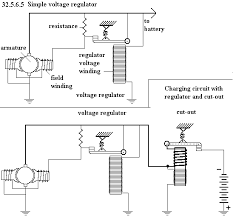 unph  see diagram 32 5 6 5 simple voltage regulator charging circuit regulator and cut out control of generator the automotive generator is subjected to
