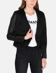 armani exchange sparkle fringe cascade jacket jacket for women a x