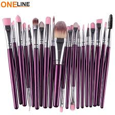 oneline 20pcs makeup brushes set violet