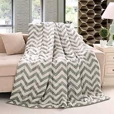 Gray Chevron Throw Blanket