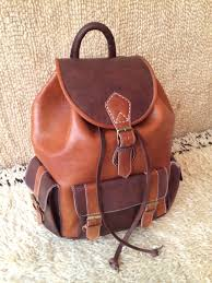 rustic leather purse backpack