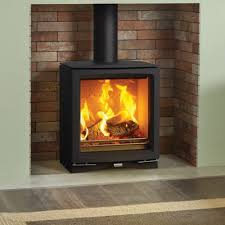 stovax vogue medium wood burning stove with cast iron top plate