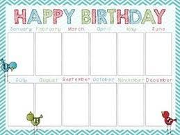 Happy Birthday Charts Song And Graph Birthday Charts