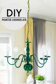 painted chandelier one room challenge week 2
