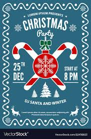 invitation flyer christmas party invitation flyer or poster design vector image on vectorstock