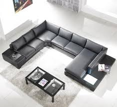 Image White Alternative Views Contemporary Plan Modern Black Leather Sectional Living Room Furniture Toslf2066