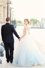discount ombre wedding dress light blue white sweetheart backless