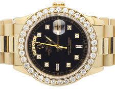 presidential diamond rolex wristwatches 18k mens yellow gold rolex presidential day date 36mm diamond watch 4 5 ct