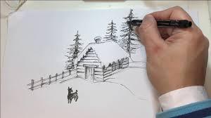 Trova disegni a matita facili e semplici per i tuoi progetti scarica disegni a matita belli e spettacolari gratis scegli disegni a matita d'amore belli Come Disegnare Una Casa Ricoperta Da Neve A Penna Tutorial Youtube