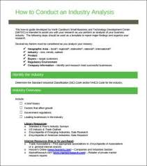 industry analysis template industry analysis template free templates