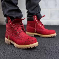 Custom Design Timberland Boots Red Timbs