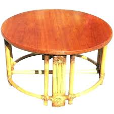 wicker ottoman round coffee table decorating rattan patio storage outdoor