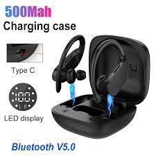 B11 Led ekran Bluetooth kulaklık 5.0 HIFI kablosuz kulaklık TWS Stereo  kulakiçi Handsfree spor kulaklıklar iphone pk B5|Headphone/Headset