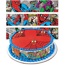 Spiderman Designer Prints Cake Edible Image Amazoncom Grocery