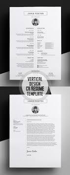 Beautiful Vertical Design Cv Resume Template Gold Design