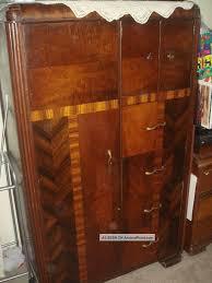 vintage 1930 art deco bedroom waterfall furniture armoire closet art deco bedroom furniture art deco antique