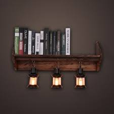 vintage style cylinder wall sconce wood