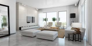 modern white living room