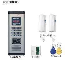 DIY RFID bina interkom sistemi uzatma/olmayan görsel kapı zili kapalı  makine/bina kapısı anahtarı intercom indoor diy buildindoor intercom -  AliExpress