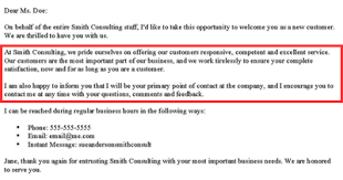 email writing template professional how to write a new customer welcome letter