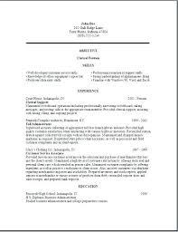Clerical Resume Templates Custom Office Clerk Resume Sample Free Clerical Resume Examples Office