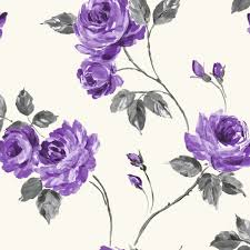 Purple Flower Wallpaper For Bedroom Fine Decor Romance Floral Wallpaper Purple And Charcoal Fd30771