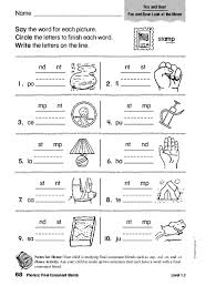 Phonics worksheets and online activities. Phonics Final Consonant Blends Worksheet For 1st 2nd Grade Lesson Planet