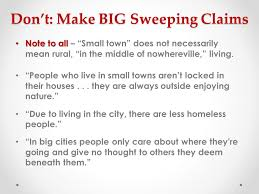 "big city small town"" persuasive essay debrief ppt  7"