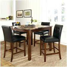 dining room table black and white marble gl top chairs set large 4