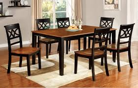 7 piece black dining room set. Furniture Of America Two Tone Adelle 7 Piece Country Style Dining Set Black Room D