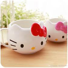 Cypress home cat mom ceramic travel coffee mug, 17 ounces. Discount Hello Kitty Cute Personality Breakfast Milk Cup Creative Hello Kitty Coffee Ceramic Mark Cup From Home8888 13 99 Dhgate Com