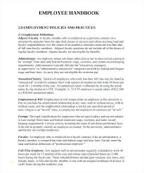 Free Employee Handbook Template Lovely Sample 7 Uk 2018 Pdf Download