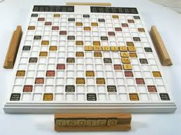 Handmade Wooden Board Games Inspiration Wooden Scrabble Wood Scrabble Board Games Handmade Scrabble Etsy