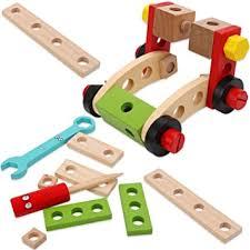 Buy toyshine 29 <b>pcs wooden</b> tool box, <b>pretend</b> play building set tool ...