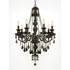 royal 7 light jet black crystal chandelier