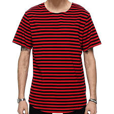 Shirt striped red and black