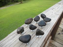 Custom Cabinet Pulls Custom Made River Rock Cabinet Knobs And Drawer Pulls Rock