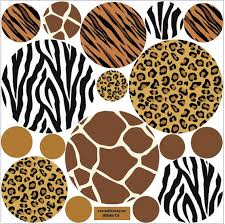 Animal Prints Amazoncom Animal Print Wall Decals Large Dots Repositionable