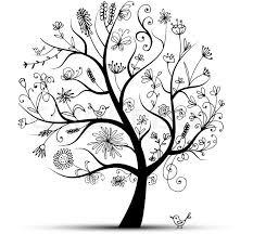 Tree Design Art Floral Tree Black For Your Design Stock Vector Colourbox