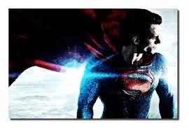 superman man of steel canvas art david gilkes