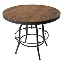 table charming rustic round kitchen 19 interior small archer dining designed with mahogany wood tabletop and