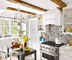 colorful moroccan style interior decorating kitchen backsplash