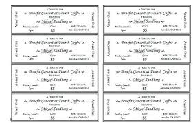 Benefit Ticket Template Benefit Ticket Template Bodyarch Co