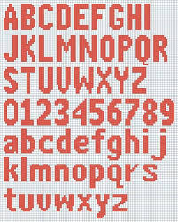 Alphabet Knitting Chart Free Free Knitted Alphabet And Numbers Chart Courtesy Of