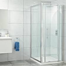 pivot door corner shower enclosure 7 sizes 8mm easy clean safety glass