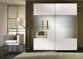 durable high gloss bedroom furniture with mdf mirror sliding door wardrobe